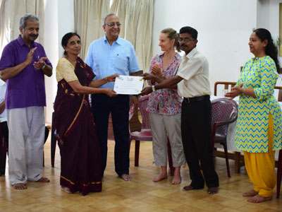 Svarnim Puducherry, a holistic development project of Sri Aurobindo Society, as a part of their health initiatives organized a Workshop on De-addiction and Wellbeing on July 7 and 8, 2019. The workshop was based on the National Acupuncture Detoxification Association's (NADA) Protocol, which comprises ear acupuncture for addiction, stress and trauma. The applicants selected included a group of 35 medical and paramedical professionals and interested candidates, who wholehearted and keenly participated in the programme.